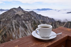 Coffee at kita hotaka hike japan
